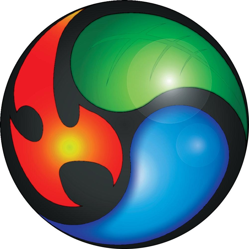 Yin-Yang Zen Elements