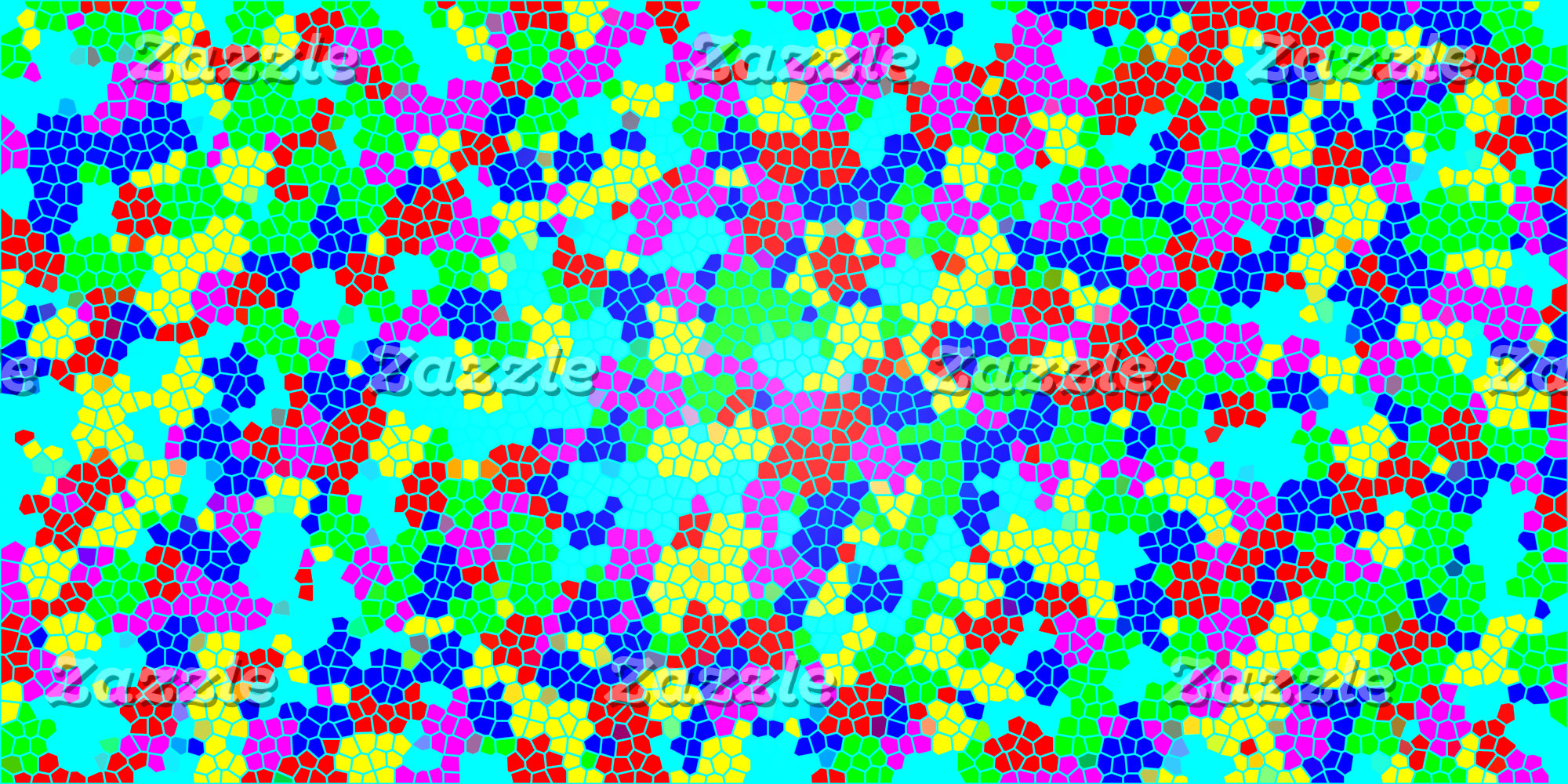 Multicolor Rainbow Confetti Mosaic Pattern