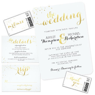 Gold Foil Wedding Collections