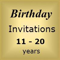 Invites Birthday : Age 11-20