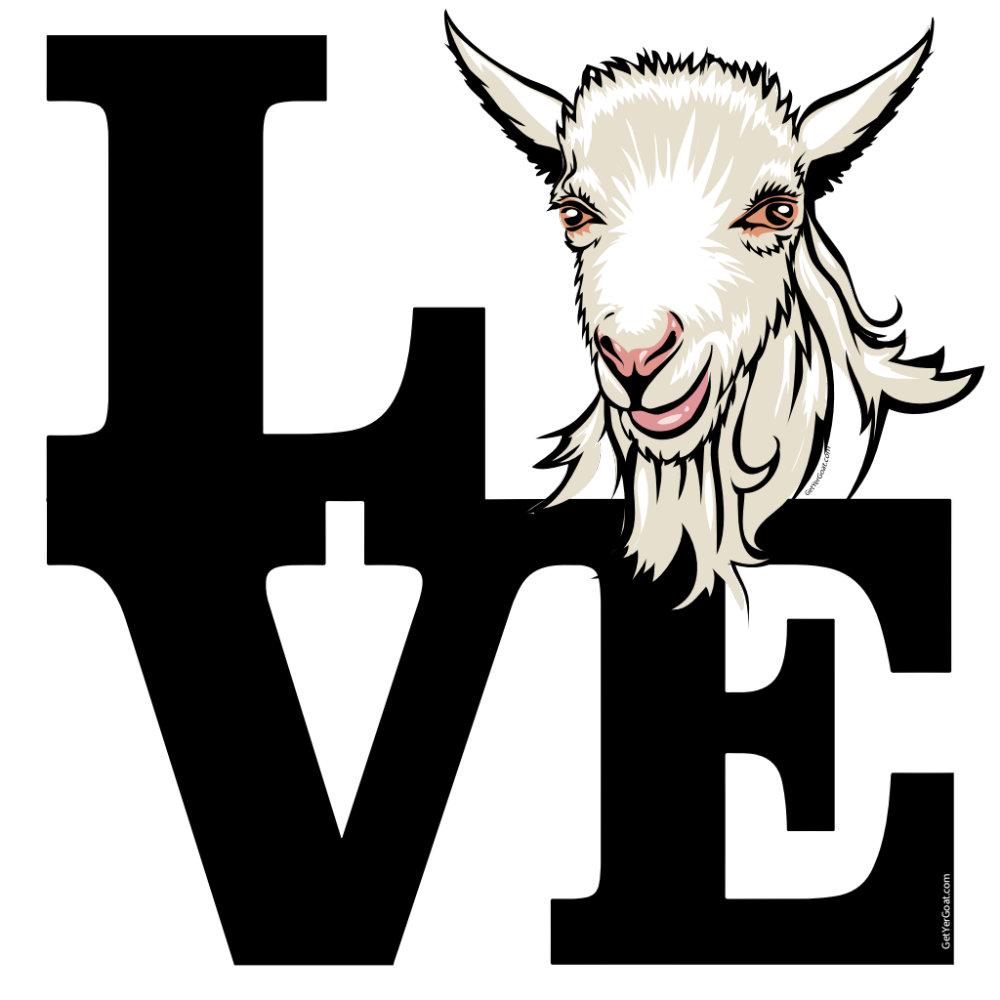Retro L O V E Goat