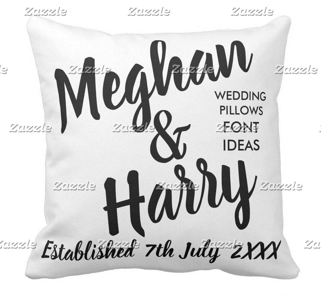 Bride & Groom Throw Pillows
