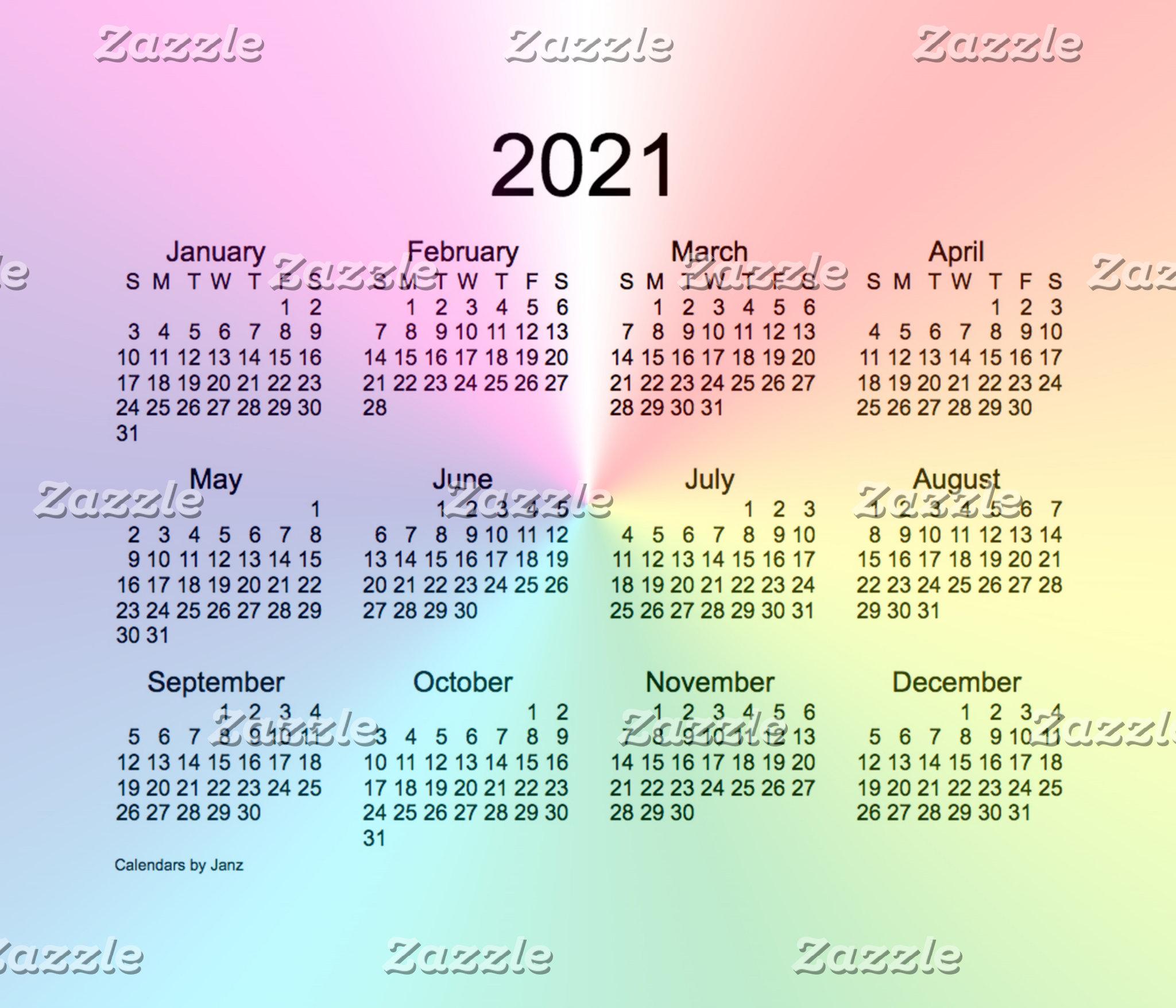 2021 Calendars by Janz