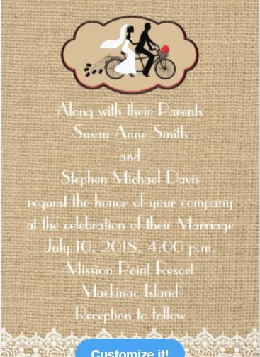 Bicycle and Burlap