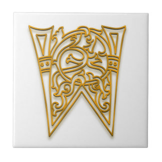 A-Z Irish Gold on White