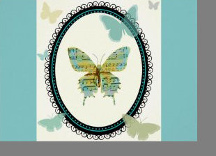 Sheet Music Butterfly