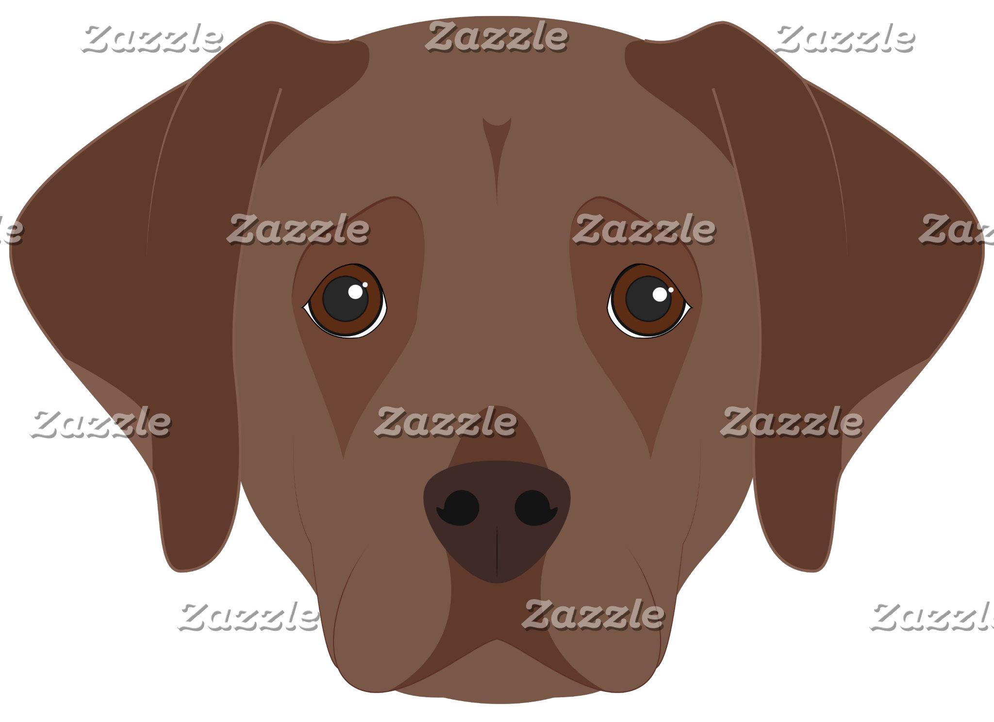 Brown Labrador Restriever Dog Portrait