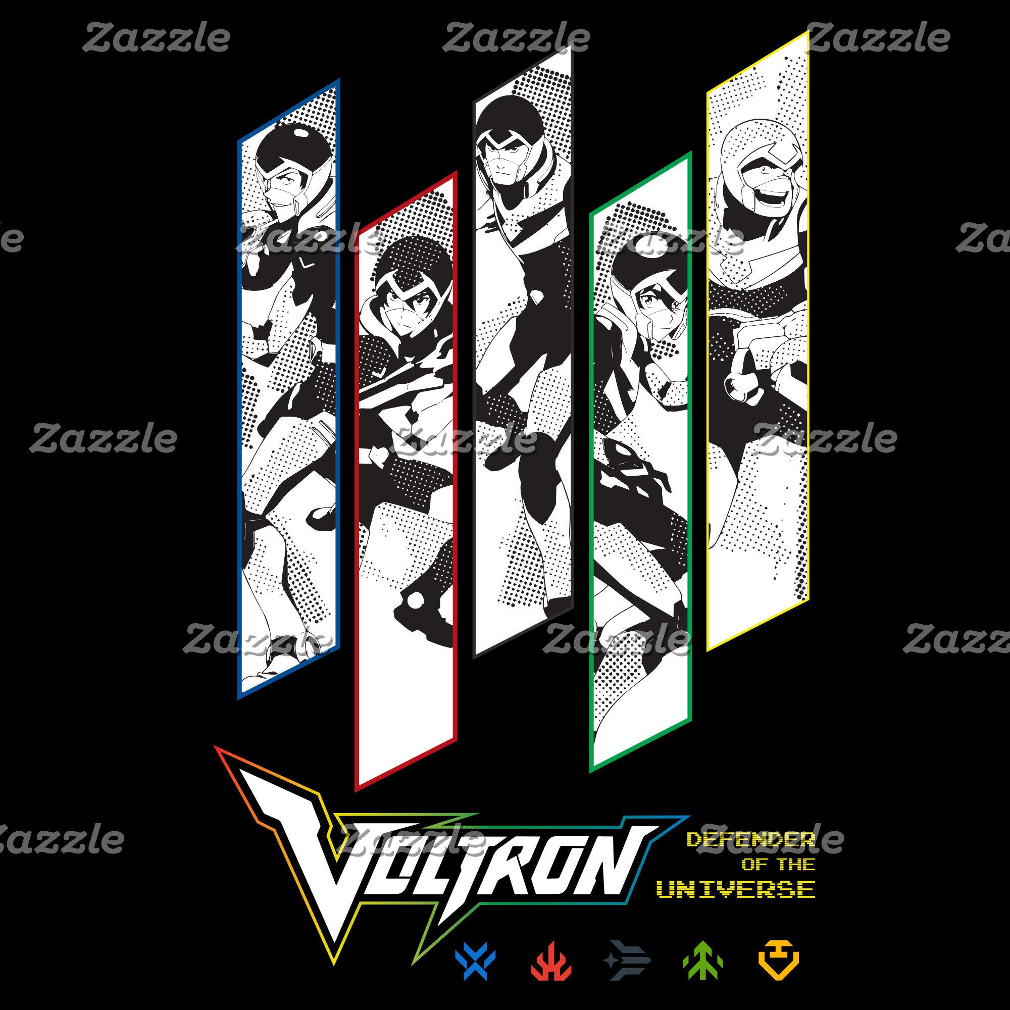 Voltron   Classic Pilots Halftone Panels