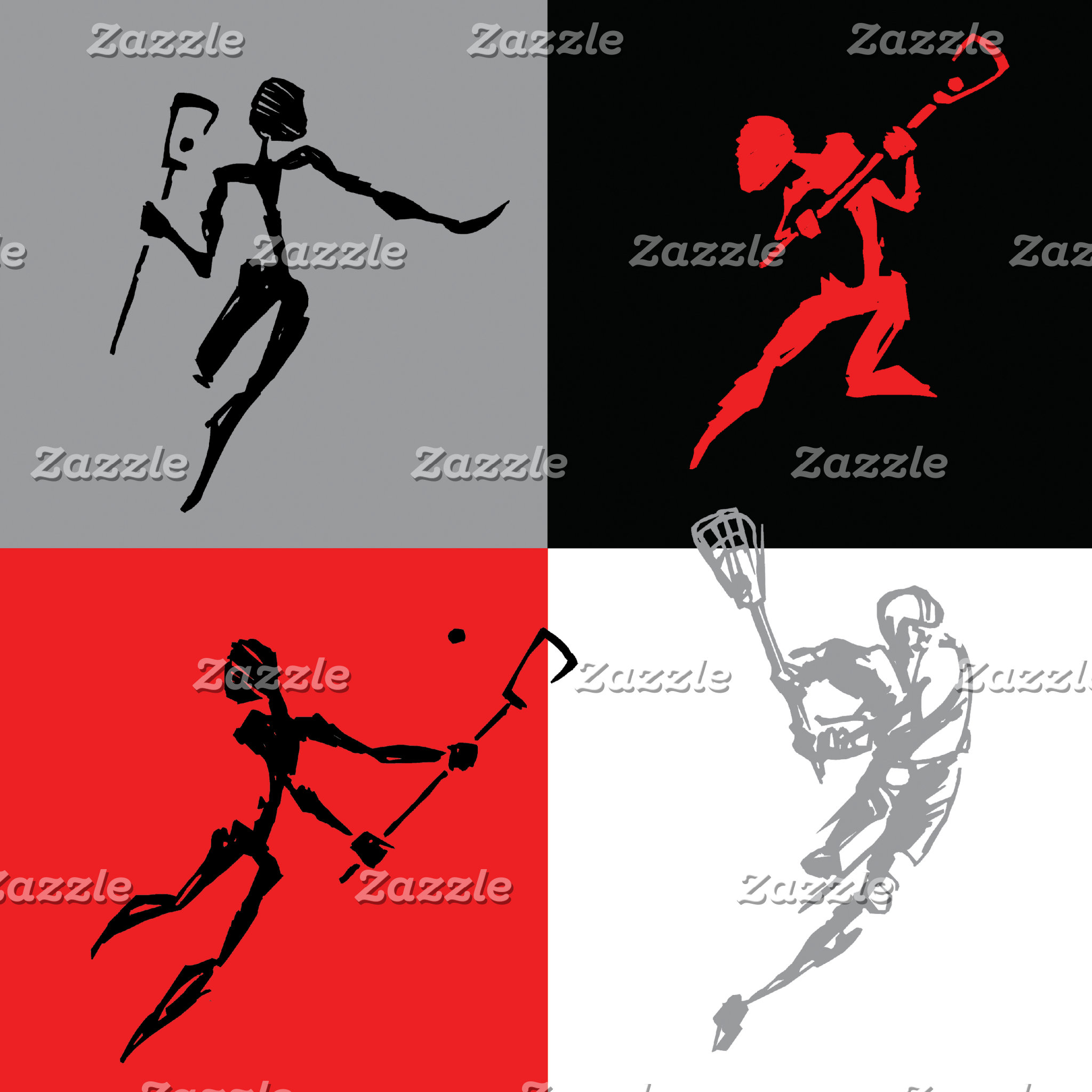Abstract Lacrosse T-Shirt Gifts