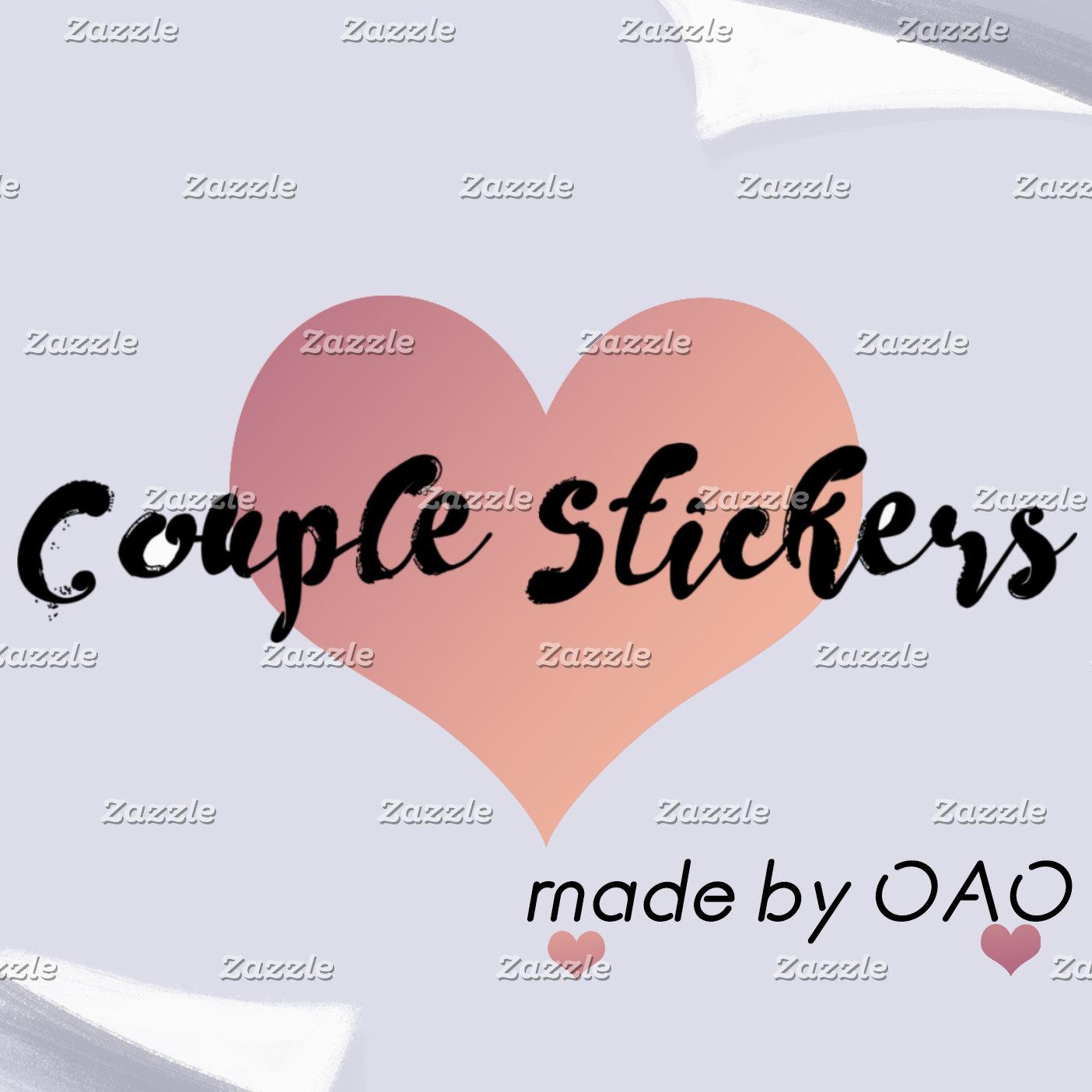 Couple stickers