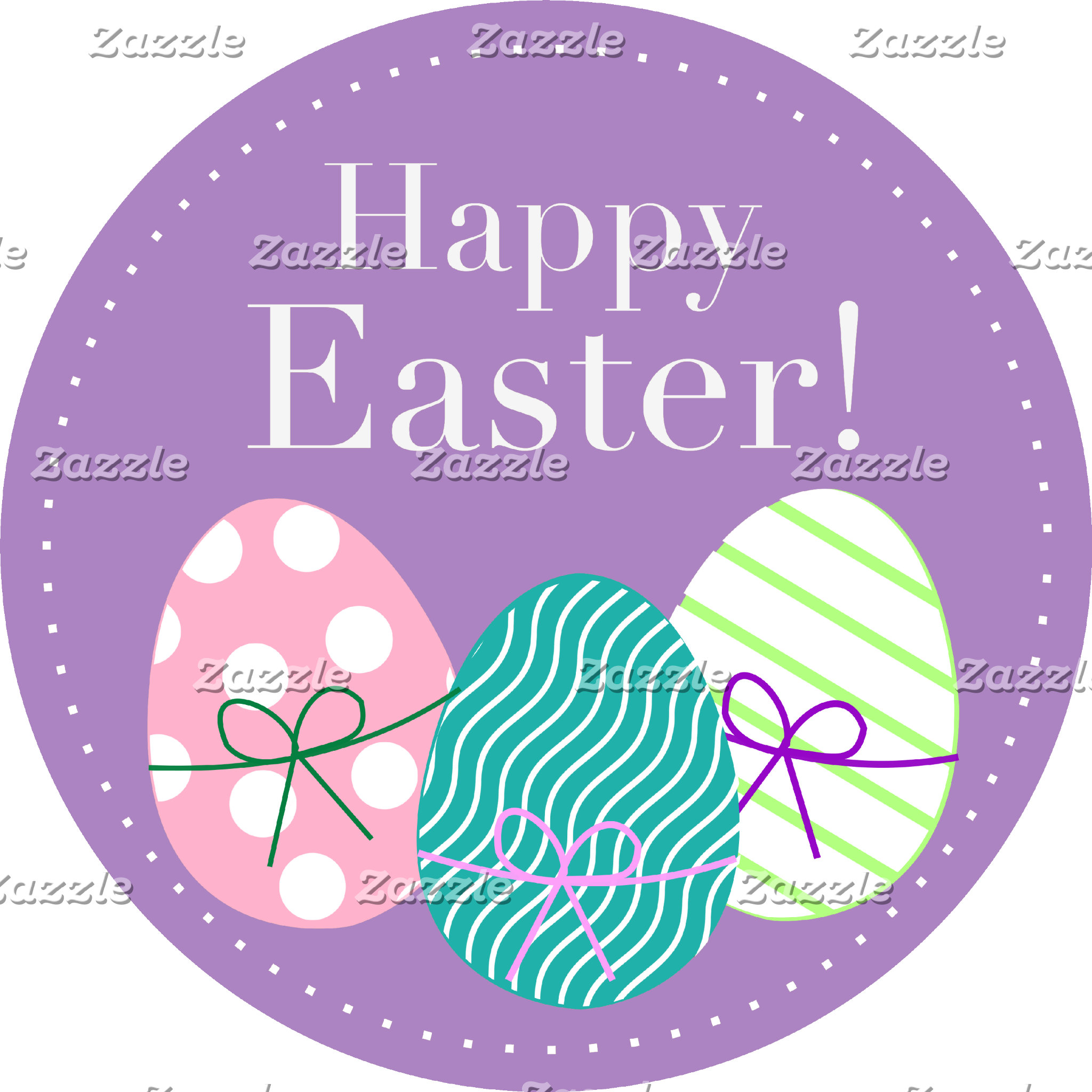 Happy Easter - Purple