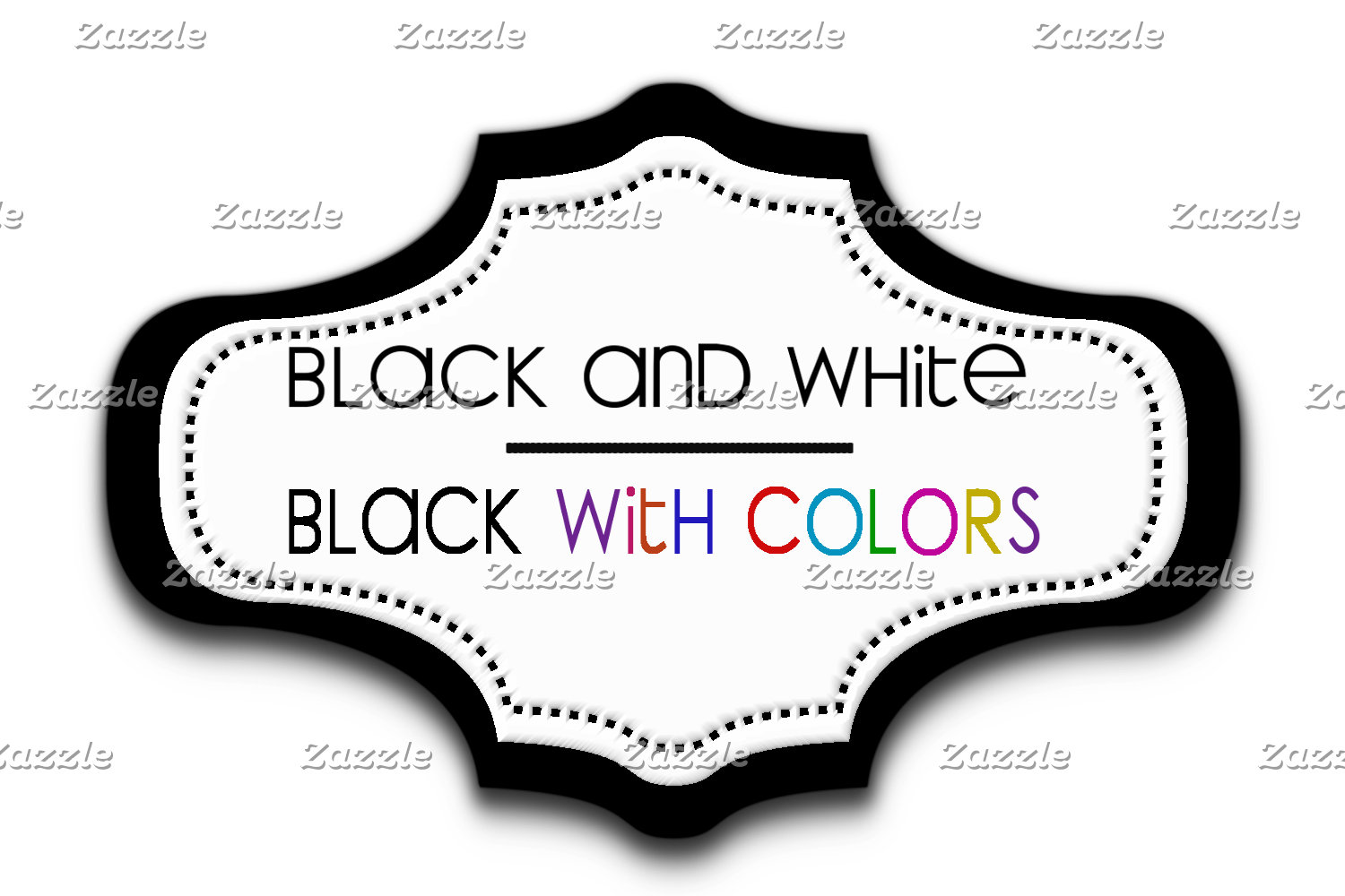 Blacks with white / with colors
