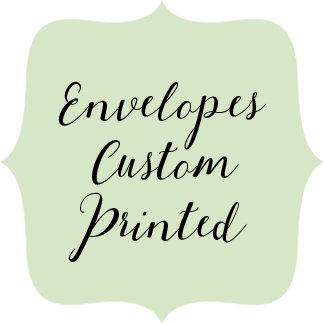 Envelopes - Custom Printed