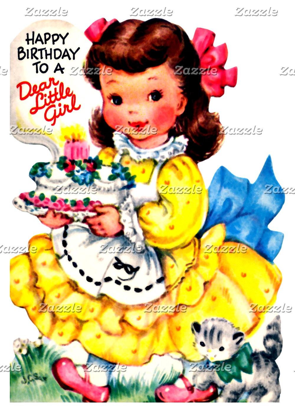 Girl Birthday Greeting Cards