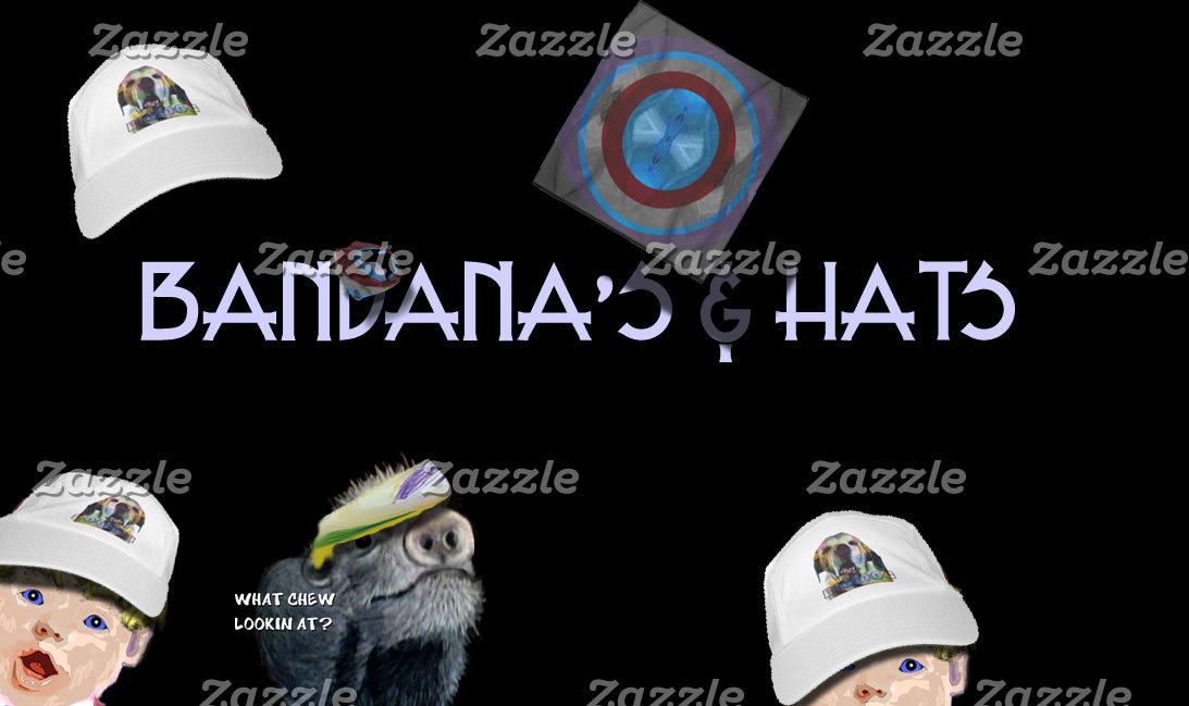 Bandanas-Hats-Headbands-Skull Caps
