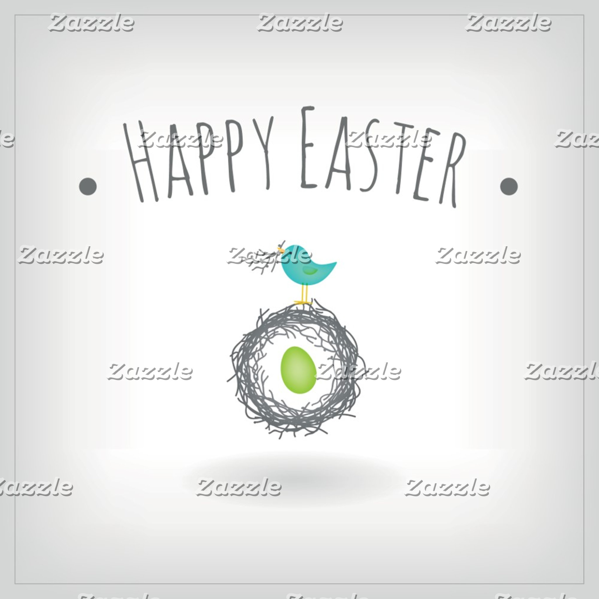 Easter Egg in Bird Nest Greeting Card