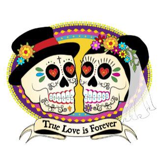 Los Novios Sugar Skulls
