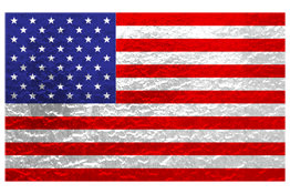 Metallic American Flag Design