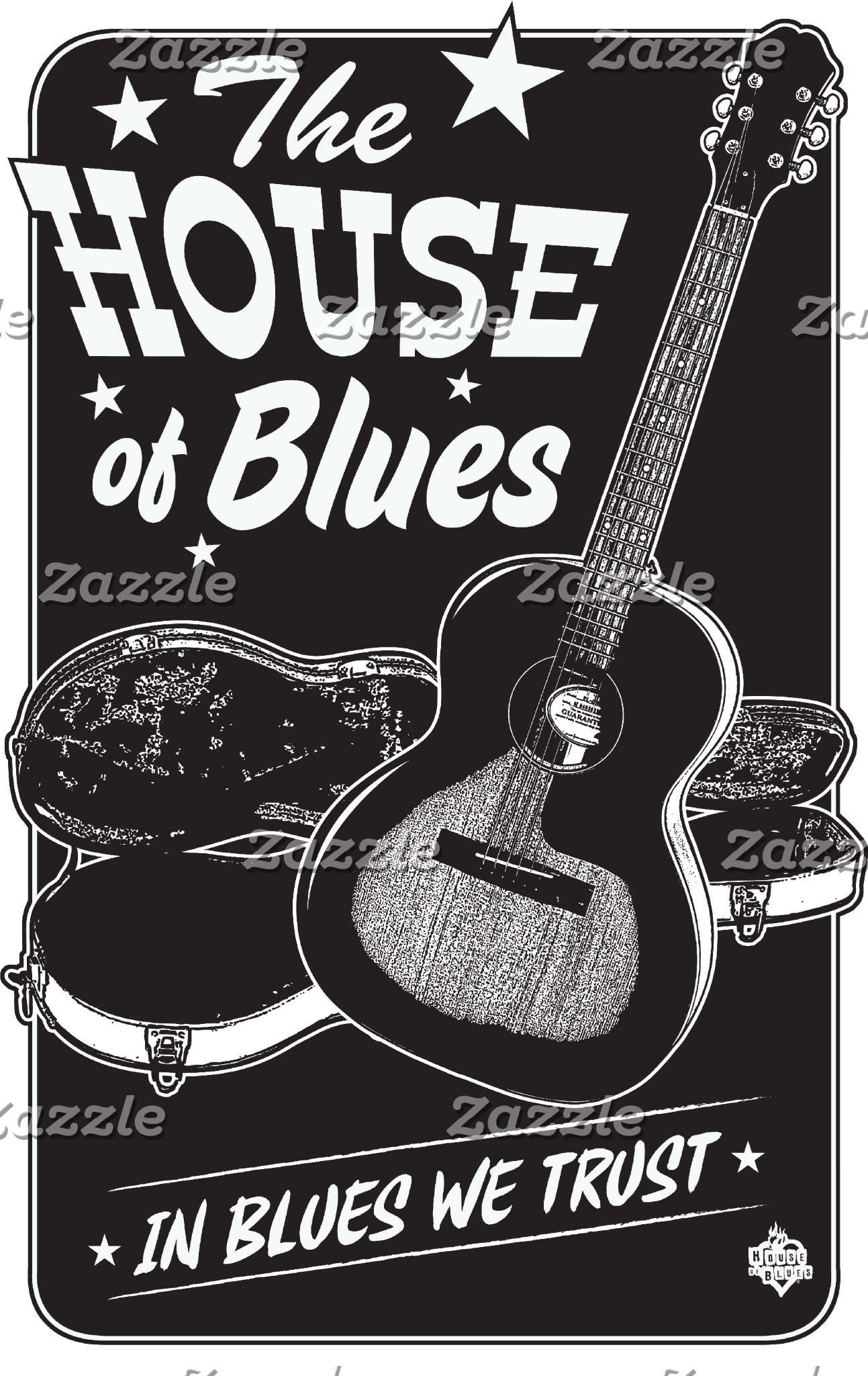 The House of Blues - Guitar Design