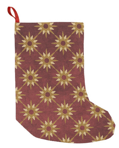 Burgundy and Gold Stars