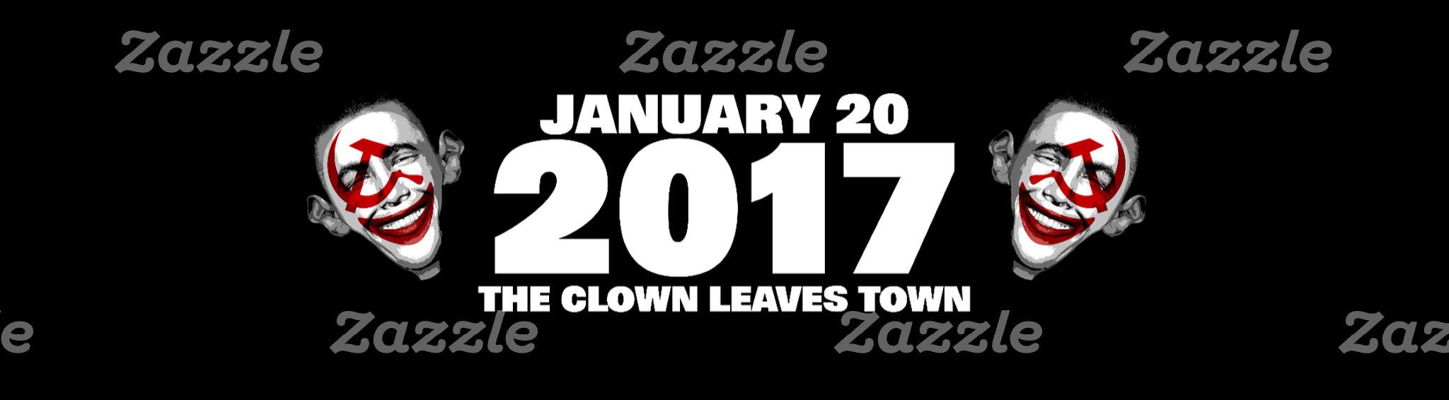Anti obama   Clown Leaves Town