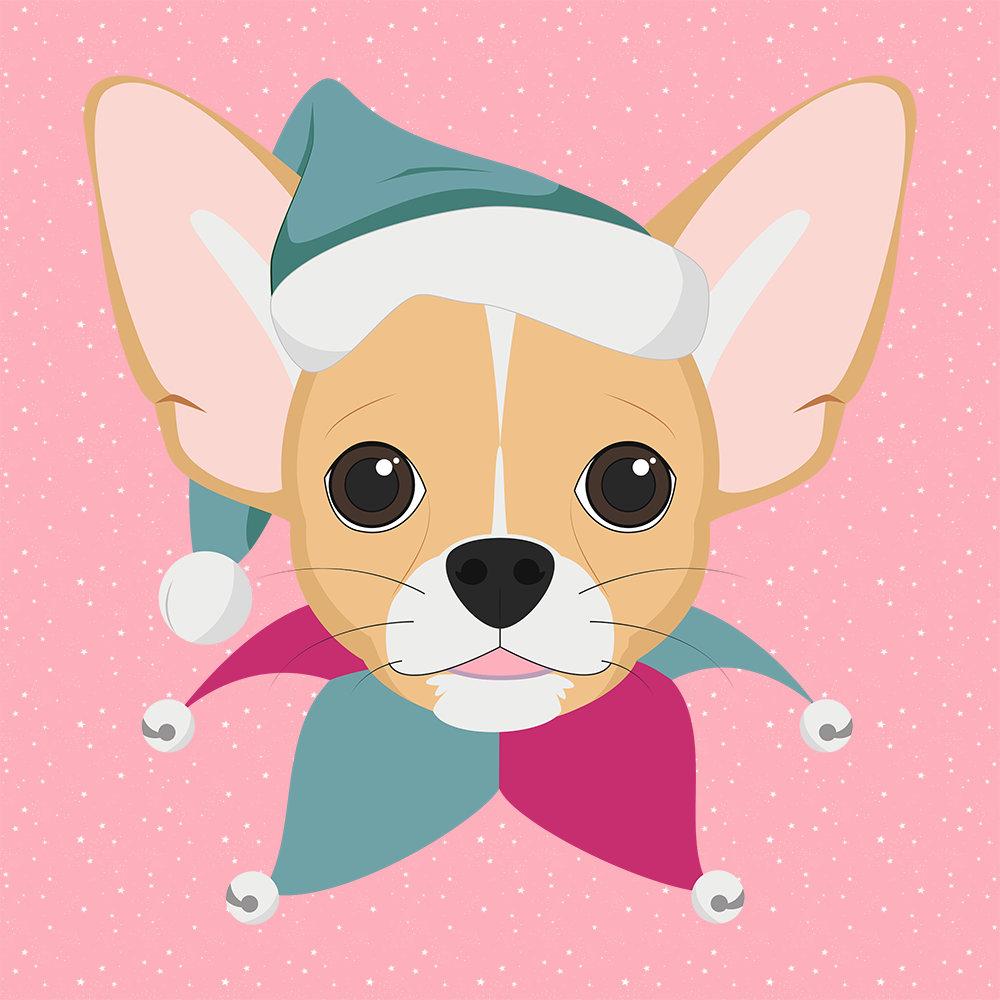 Chihuahua Christmas Dog Santa Hat