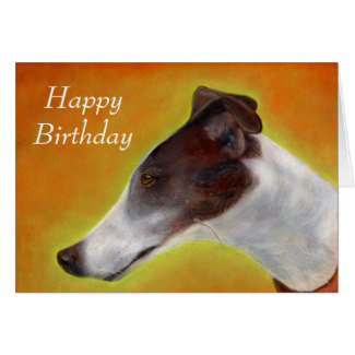 Greyhound birthday cards