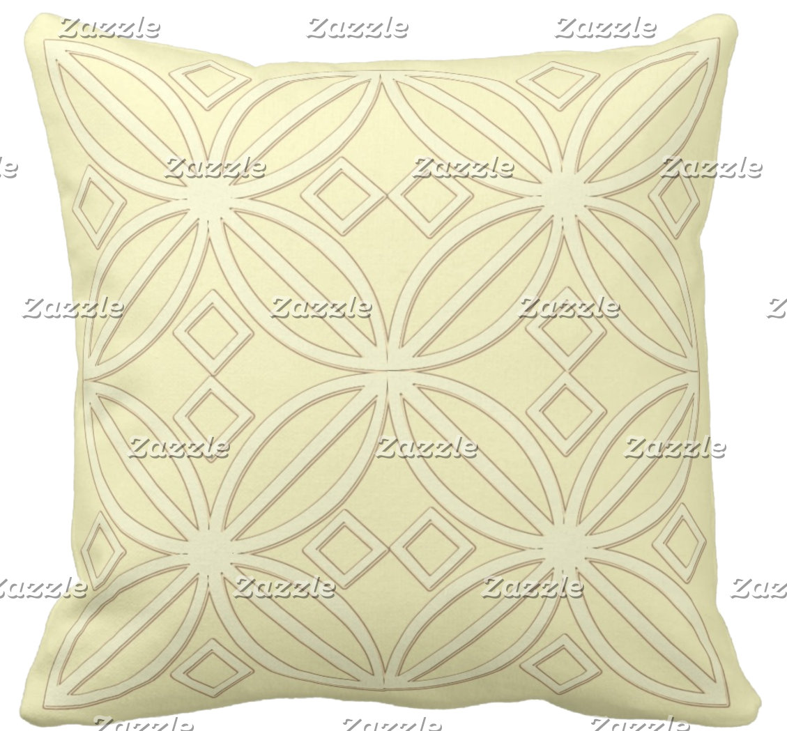 Throw Pillows Yellows And Greens