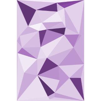 Abstract Purple Triangle Design