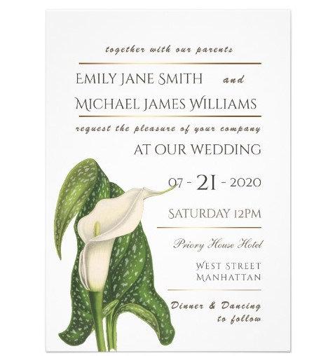 Calla Lily Wedding