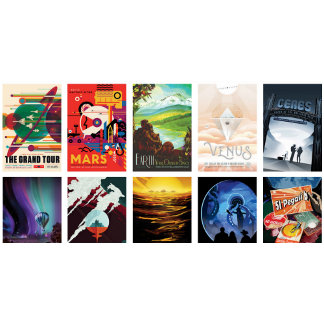 Retro-Futuristic Space Travel Posters