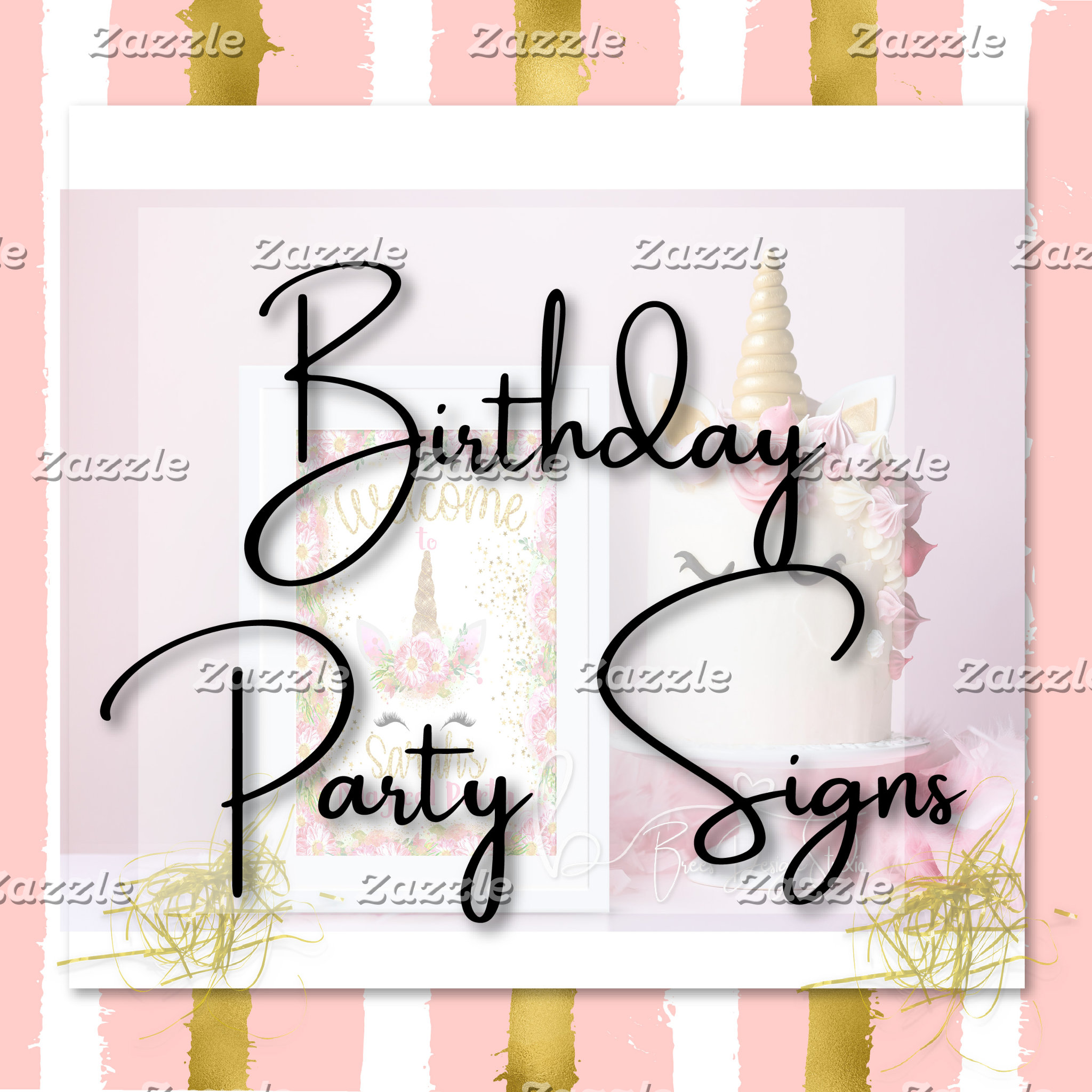 Birthday Party Signs