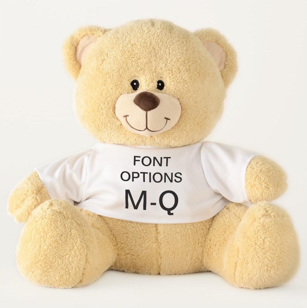 Teddy Bears ALL FONT OPTIONS M-Q