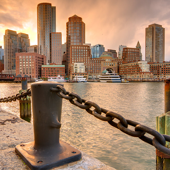 Skyline of Financial District of Boston