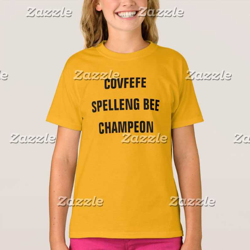 COVFEFE SPELLENG BEE CHAMPEON
