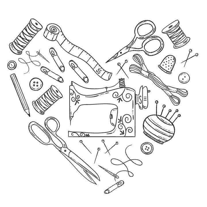 Sewing Tools Heart