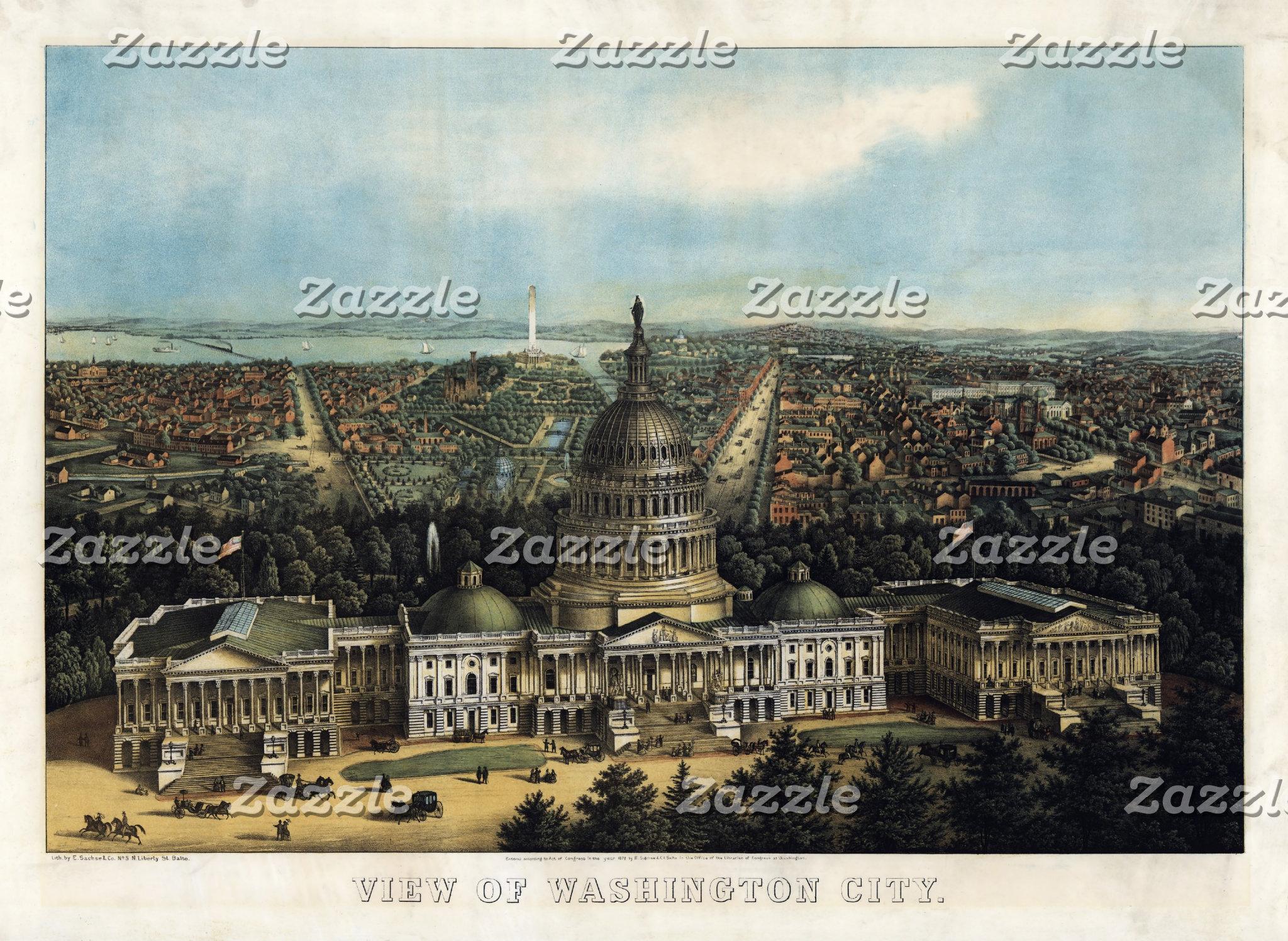 Historical Map Prints - U.S. Cities