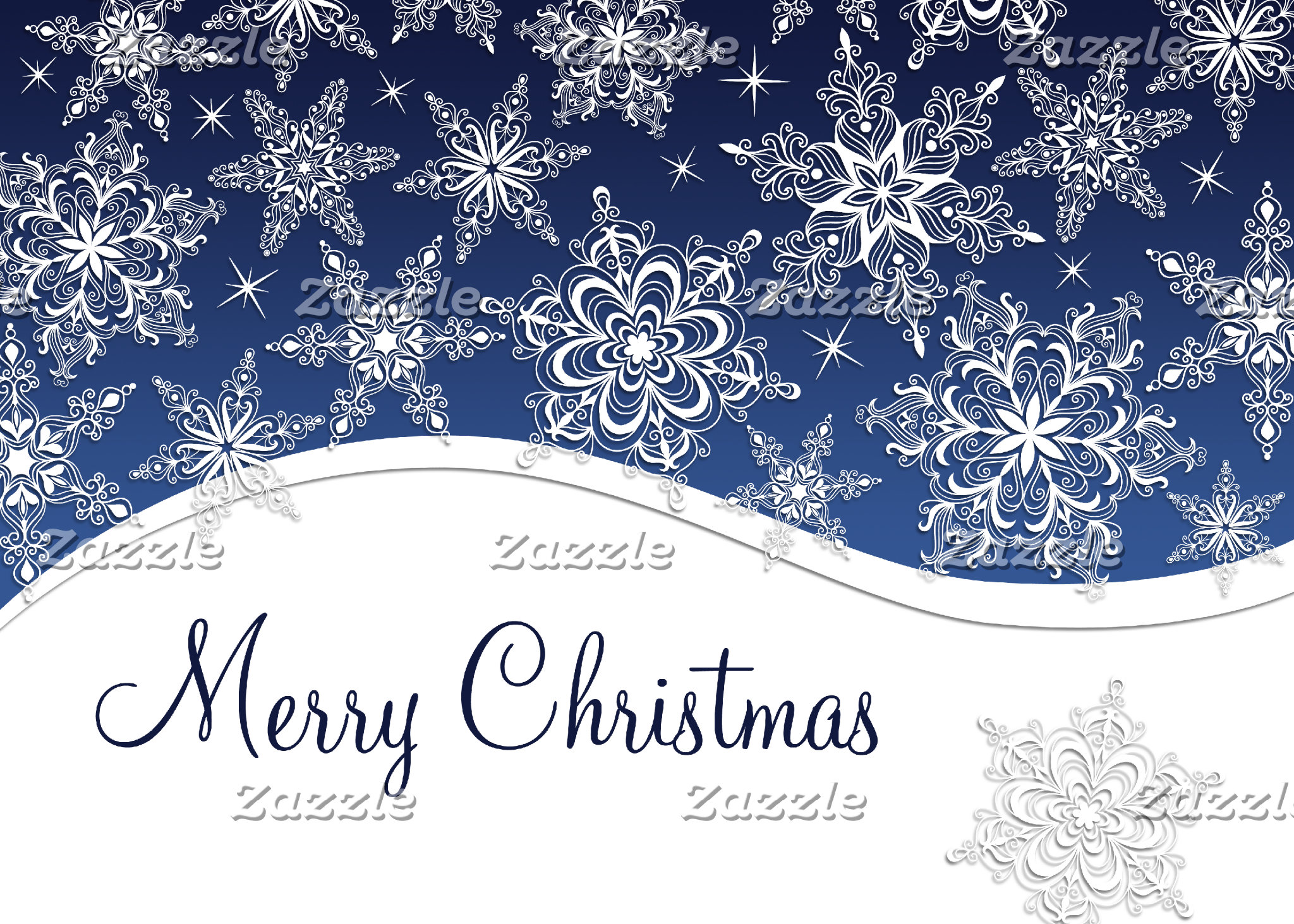 Christmas Snowflakes Cards and Stamps