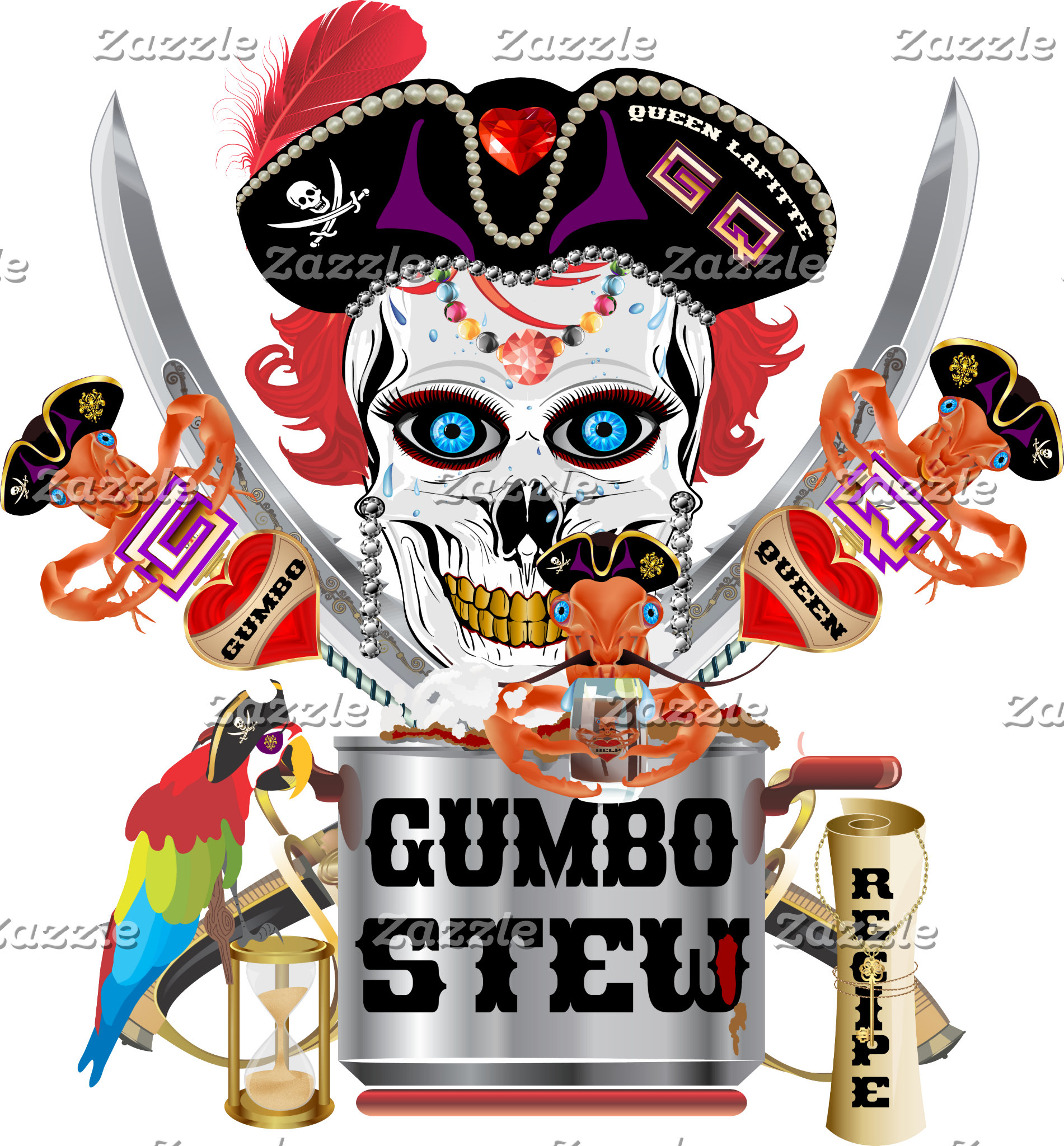 Pirate Gumbo Queen NO Lake Charles Text