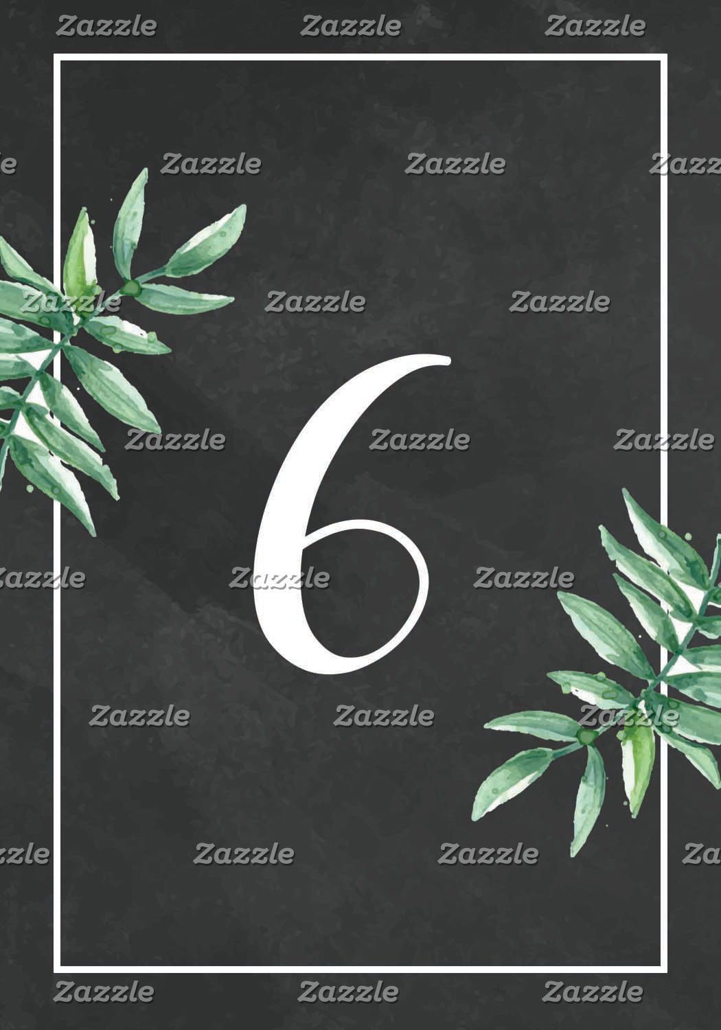 Table Number Card