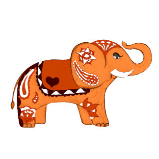 Henna Elephant Six Colors!