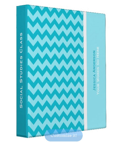 Chevron Pattern Binders