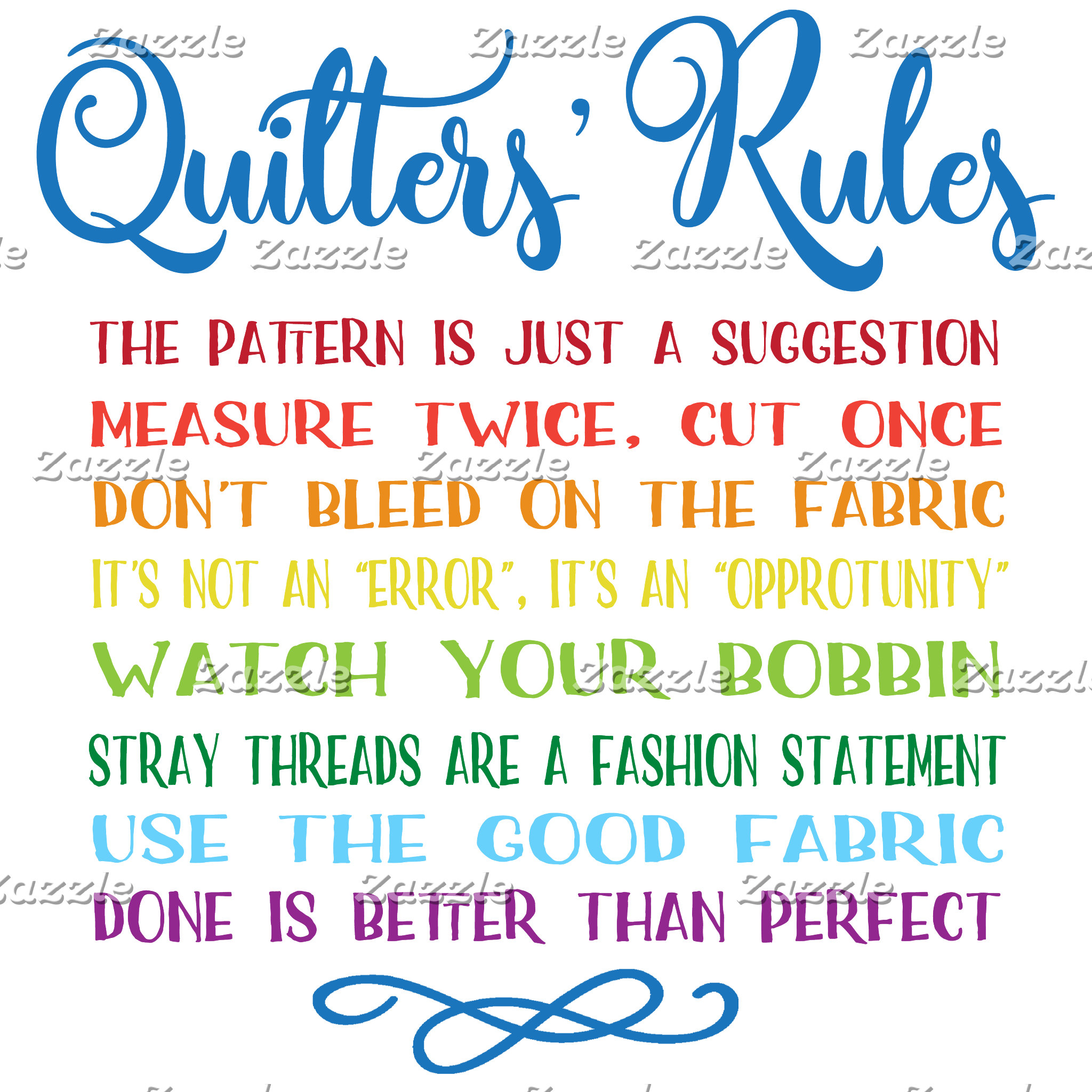 Quilter's Rules