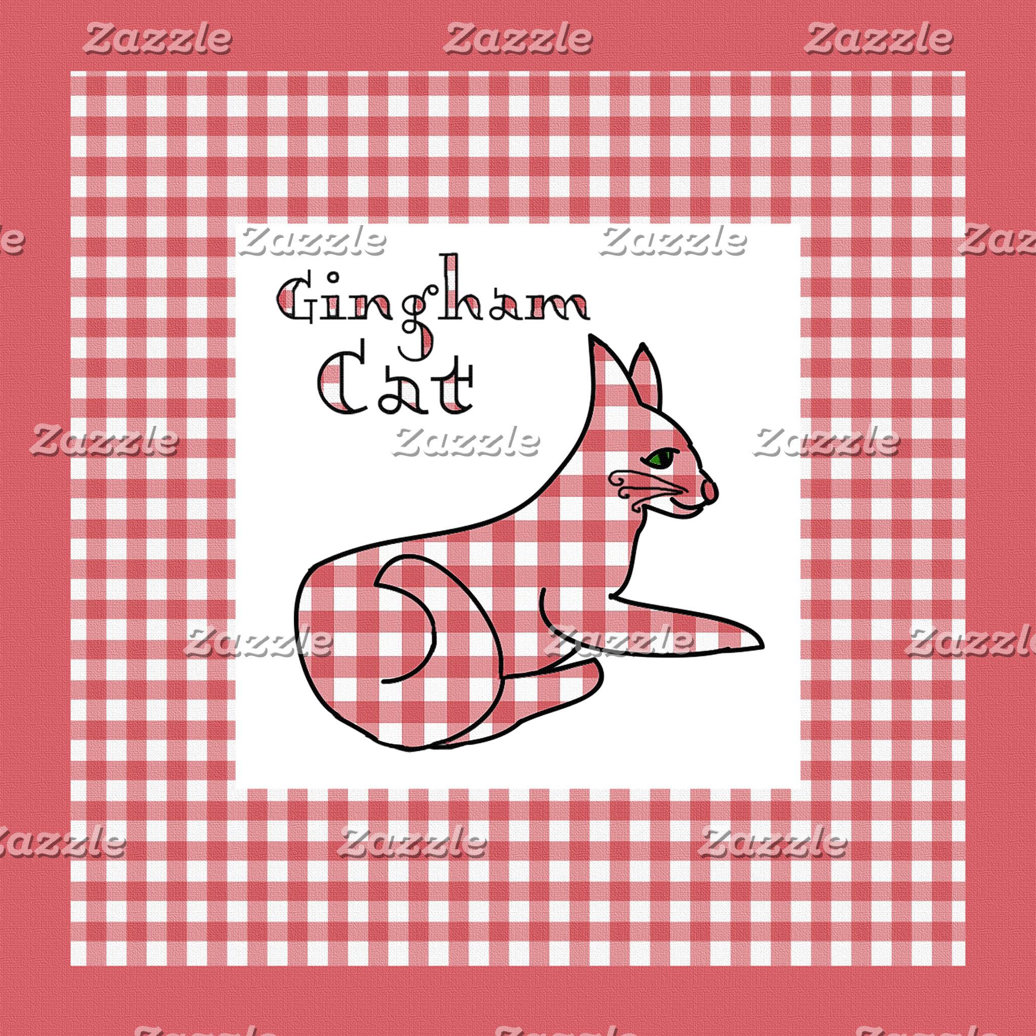 Gingham Country Cat