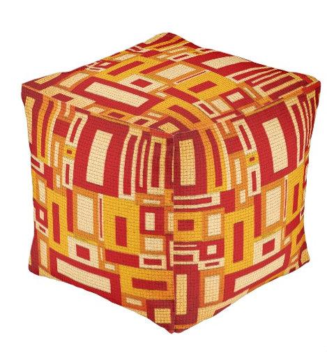 Random Geometric Retro Modern Art
