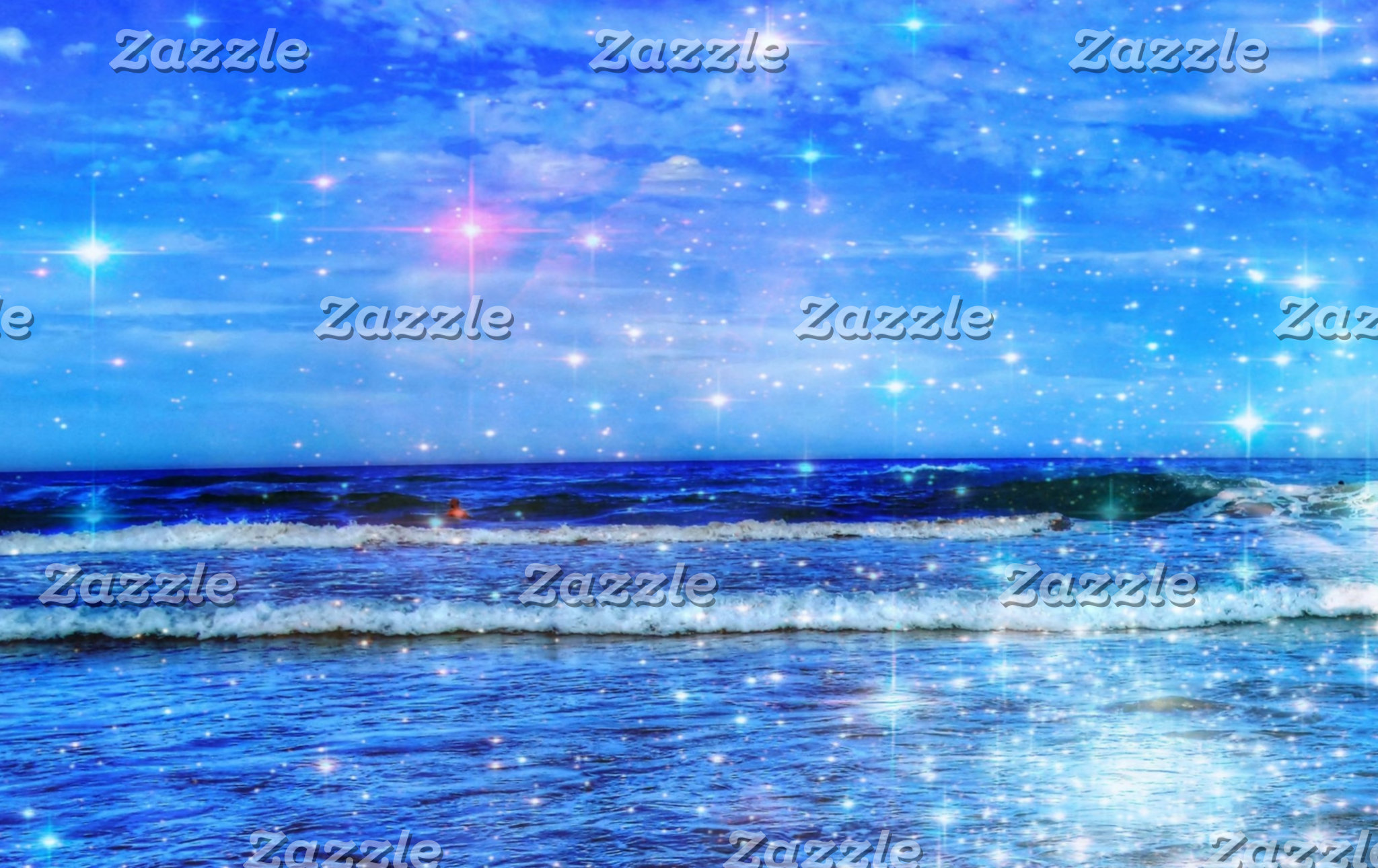 Cosmic Sea and Stars Photo Collage