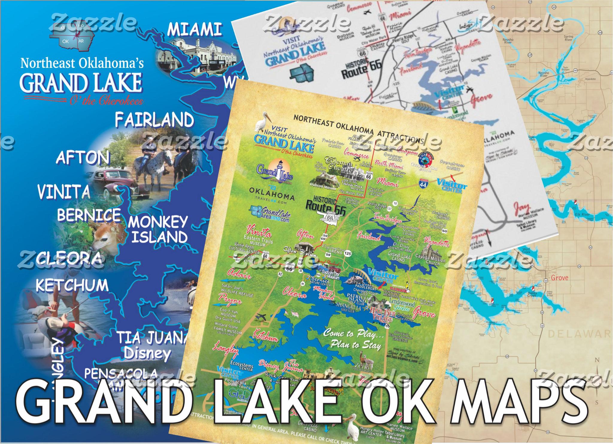 Grand Lake OK Maps