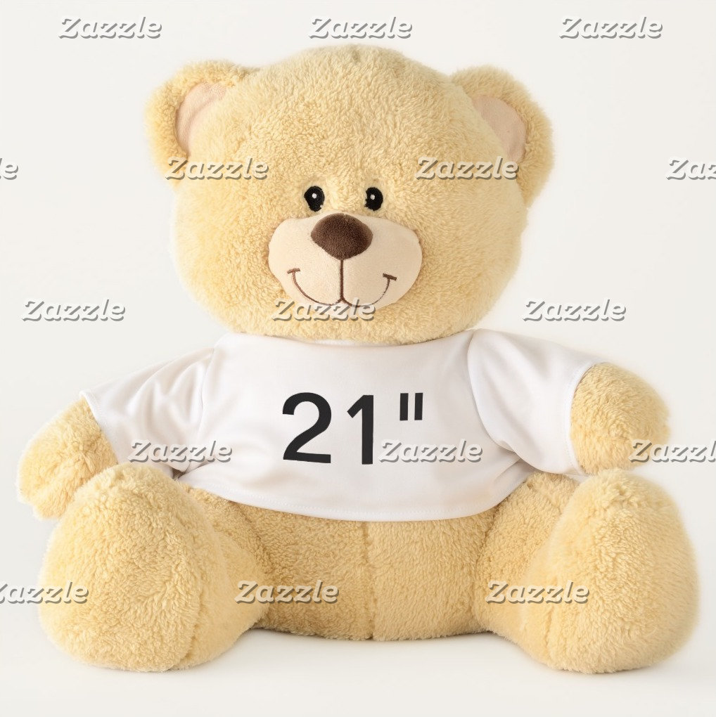 """21"""" Teddy Bears - All Font Examples"""