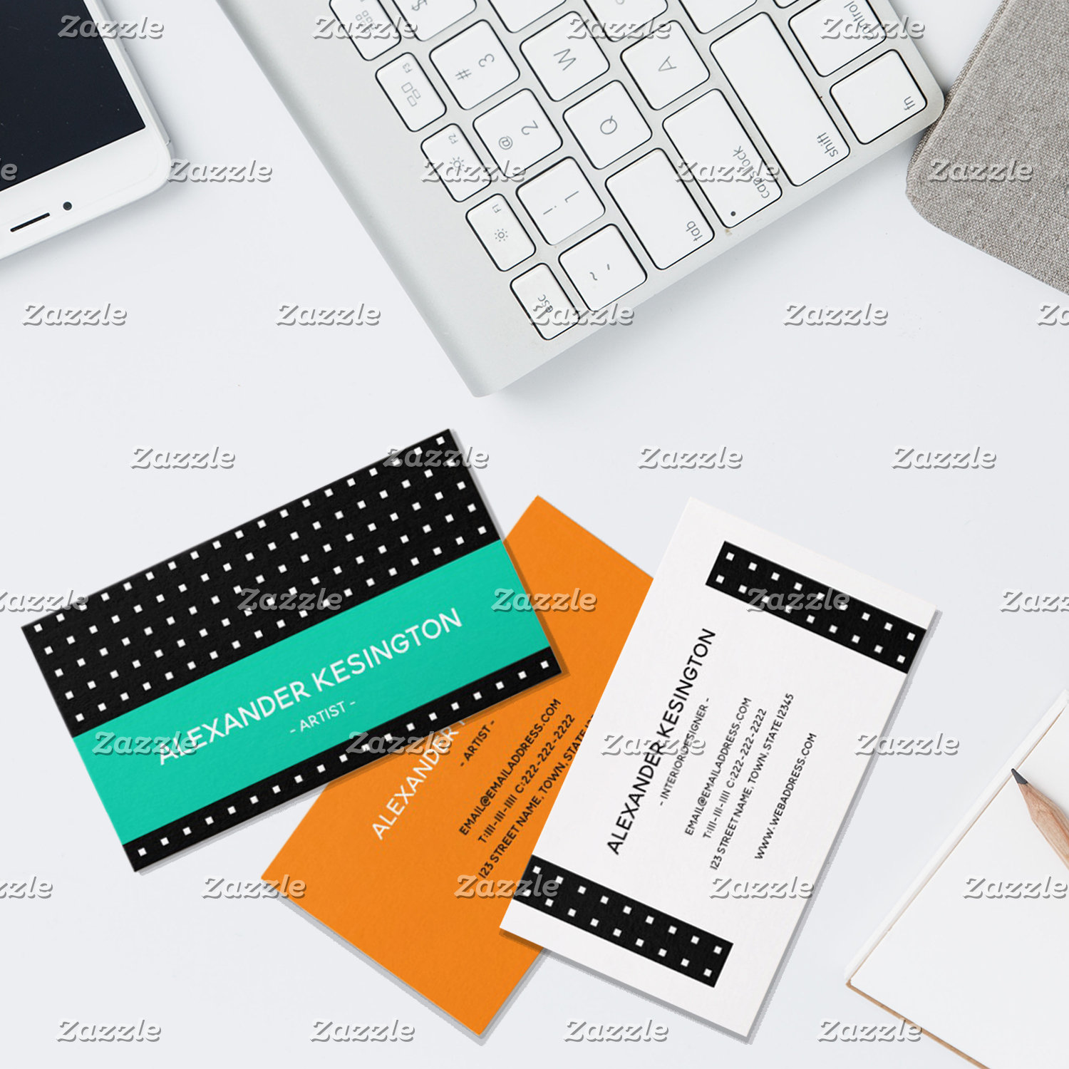 Geometric Modern Vibrant Business Cards