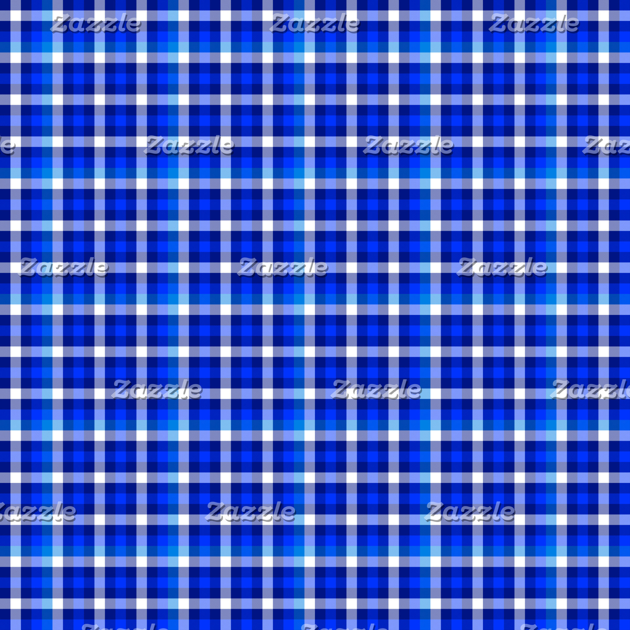 SHADES OF BLUE CHECKED